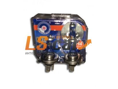 Лампа галогеновая H4 12V 60/55W P43T  F9 BOX  (комплект 2шт)