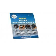 Элемент крепления номерного знака винт с заглушкой колпачком (в комп. 4шт.)Dollex аналог М6 /KNV-01