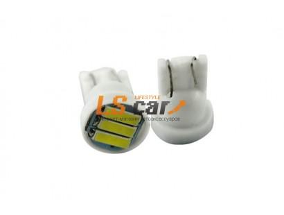 Светодиодная лампа для а/м  T10-7014-3SMD  (белый) 12V