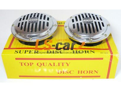 Сигнал звуковой электрический TZ-B001-155-19(аналог WD-1060) хром 12V/290Hz/345Hz/
