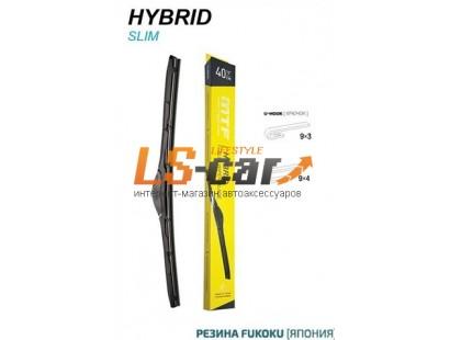 Щетка стеклоочистителя MTF light Slim HYBRID, Гибридная, Резина FUKOKU, Графит, 530мм (21''), 1 шт.