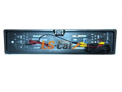 Рамка заднего номерного знака EK-20 Black пластик с камерой заднего вида