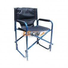 "Кресло складное ""СЛЕДОПЫТ"" 585х450х825 мм, сталь 25 мм, синий/PF-FOR-SK06"