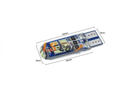 Светодиодная лампа для а/м T10-5630-15SMD-SIL 12V