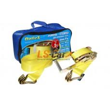 Стяжка для крепления груза (10м х 50мм), 5т(лента полиэстер+механизм) в сумке Dollex/ST-105005
