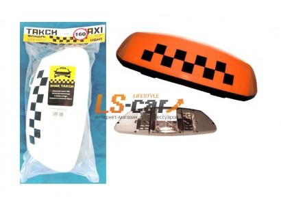 Знак ТАКСИ средний оранжевый в слоте(защитная пленка,разъем для подключения, 4 магнита, 3 лампы АС12-10W) 9/TX-m-o