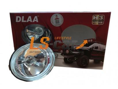 Фара противотуманная  DLAA  LA995    (белый 12V 55A H3) корпус пластик, прямоугольный 102x81*55мм