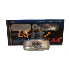 Фара противотуманная  DLAA  LA116    (белый 12V 55A H3) корпус металл, прямоугольный 107x48*55мм
