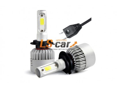 Лампа головного света со светодиодами CREE H4-T-2 6500K/8000LM 9-32V (с вентилятором)