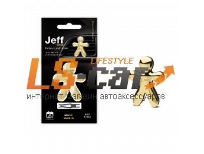 Ароматизатор на дефлектор Joy Fragrances JJEFFC Хром золото Волшебная Ваниль 5х6,5см/JJEFFC07RE/8