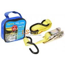 Стяжка для крепления груза (4м х 25мм), 0,9т(лента полиэстер+механизм) в сумке Dollex/ST-042501