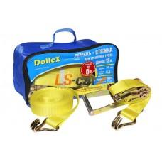 Стяжка для крепления груза (12м х 50мм), 5т(лента полиэстер+механизм) в сумке Dollex/ST-125005