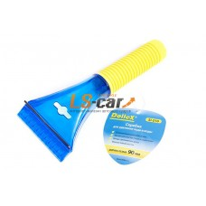 Скребок для льда Dollex 22 x 9 x 3см, ширина лезвия 90мм, мягкая ручка / SI-210