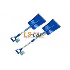 Лопата для снега Dollex 85 - 110 х 24 см с телескопической ручкой, металлический кант/LPT-2298