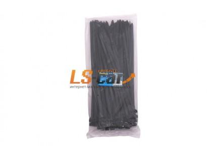 Хомут стяжка 8х300 нейлоновая (уп. 100 шт.) черный Dollex /SN-830