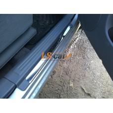 Накладки на пороги Chevrolet (Aveo, Lacetti, Lanos,Niva )  из нержавеющей стали (комп 4шт.)