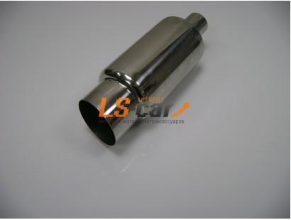 Глушитель прямоточный, спортивный HJ-A115