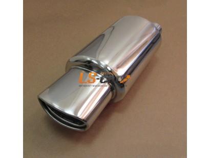 Глушитель прямоточный, спортивный HJ-A0057