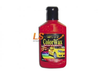 """Цветной полироль """"Color Wax"""" темно-красный,  Ас-284/250мл."""