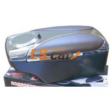 Подлокотник универсальный HJ-48004CH+G5 хром+коричневий