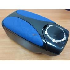 Подлокотник универсальный HJ-48004BK  черный+синий