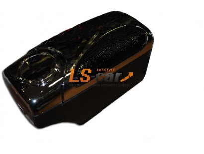 Подлокотник универсальный HJ-48007CH+E2 хром+черная шагреневая кожа