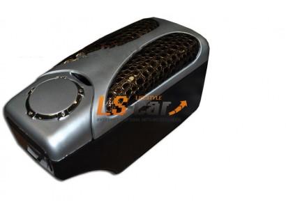 Подлокотник универсальный HJ-48007SIL+Е8 серебристый+золотисто-коричневая шагрень