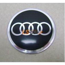 """Наклейка """"Audi"""" (диаметр 55мм.) на автомобильные колпаки, диски, компл. 4шт."""