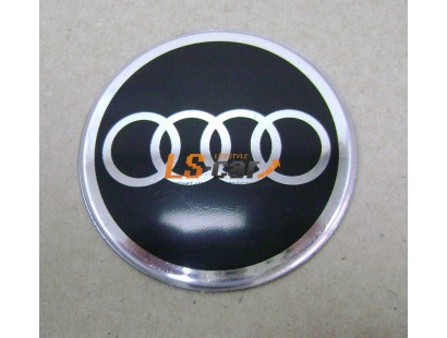 """Наклейка """"Audi"""" (диаметр 60мм.) на автомобильные колпаки, диски, компл. 4шт."""