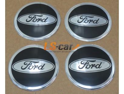 """Наклейка """"Ford"""" (диаметр 70мм.) на автомобильные колпаки, диски, компл. 4шт."""