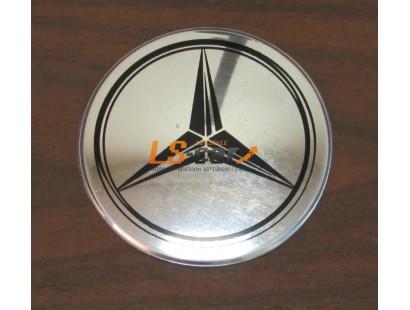 """Наклейка """"Mercedes"""" (диаметр 55мм.) на автомобильные колпаки, диски, компл. 4шт."""