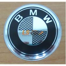 """Наклейка """"BMW"""" (диаметр 55мм.) на автомобильные колпаки, диски компл. 4шт."""
