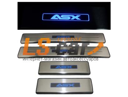 Накладки на пороги светящиеся Mitsubishi ASX