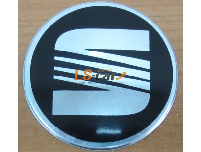 """Наклейка """"Seat"""" (диаметр 55мм.) на автомобильные колпаки, диски компл. 4шт."""