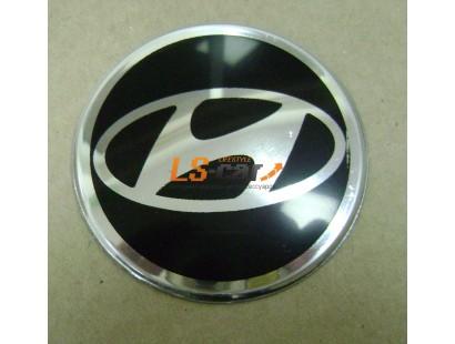 """Наклейка """"Hyundai"""" (диаметр 80мм.) на автомобильные колпаки, диски, компл. 4шт."""