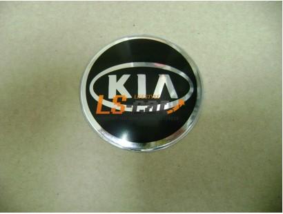 """Наклейка """"KIA"""" (диаметр 80мм.) на автомобильные колпаки, диски, компл. 4шт."""