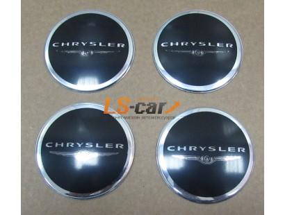 """Наклейка """"Chrysler"""" (диаметр 60мм.) на автомобильные колпаки, диски, компл. 4шт."""