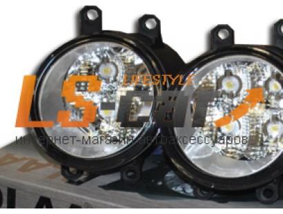 Фары противотуманные Toyota Camry 2009-2011 (Dlaa TY319-Led со светодиодами)