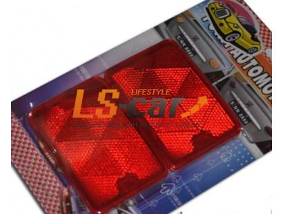 Светоотражающие накладки  HJ-RT01 красный