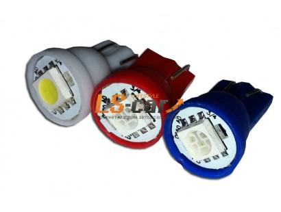 Светодиодная лампа для а/м Т10-5050-1LED BL