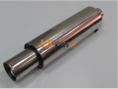 Глушитель прямоточный, спортивный HJ-A119 (нержавеющая сталь)