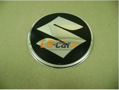 """Наклейка """"Suzuki"""" (диаметр 55мм.) на автомобильные колпаки, диски компл. 4шт."""