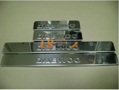 Накладки на пороги Daewoo Nexia (штамп)