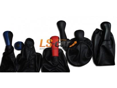 Пыльник КПП ВАЗ 2115 в наборе(ручка+пыльник) кожзам,черная