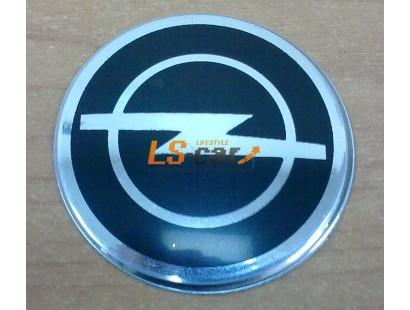 """Наклейка """"Opel"""" (диаметр 80мм.) на автомобильные колпаки, диски компл. 4шт."""
