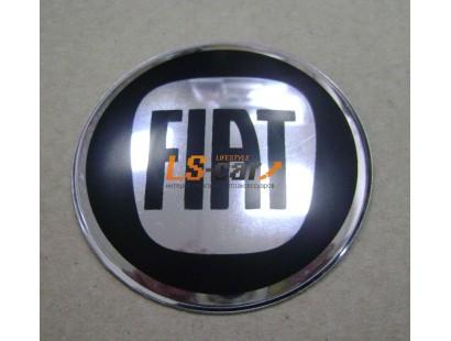 """Наклейка """"Fiat"""" (диаметр 55мм.) на автомобильные колпаки, диски, компл. 4шт."""