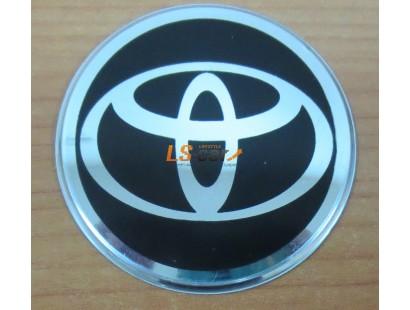 """Наклейка """"Toyota"""" (диаметр 80мм.) на автомобильные колпаки, диски компл. 4шт."""