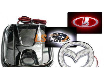 Подсветка эмблемы светодиодная для Nissan Livina, 3D эффект (цвет: белый)