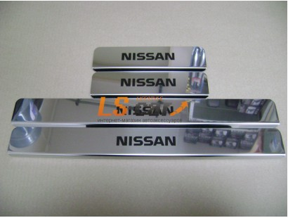 Накладки на пороги Nissan Almera из нержавеющей стали (комп 4шт.)