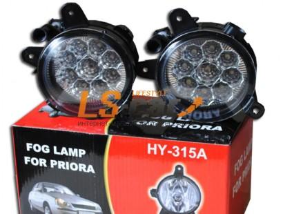 Фары противотуманные Лада Приора (HY-315A LED)